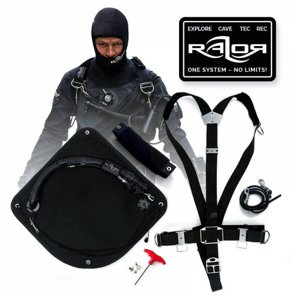 Basic Razor Sidemount Harness 2.5