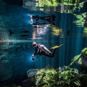 Cave Diving in Puerto Aventuras
