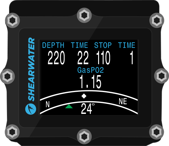 Shearwater Petrel 2 Digital Underwater Compass