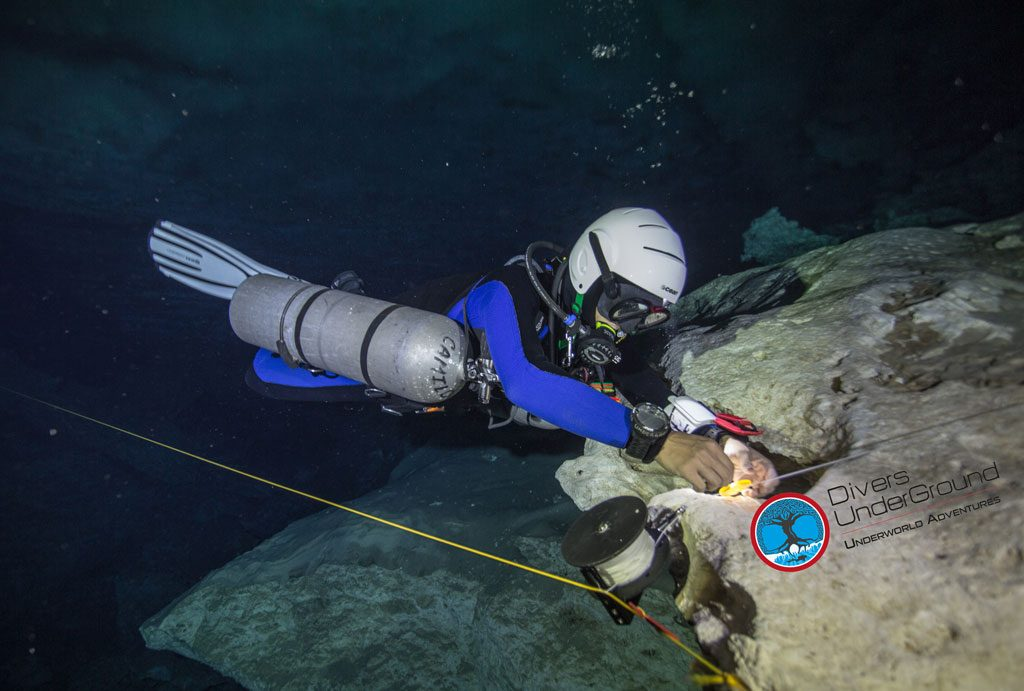 Divers Underground Cenote Diving Cave Diving Training