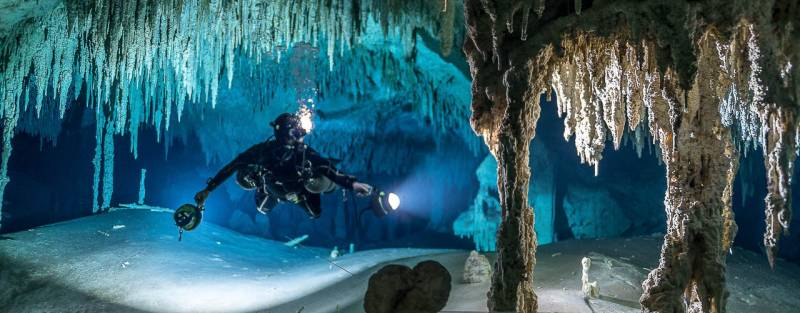 full cave diver course in mexican caves