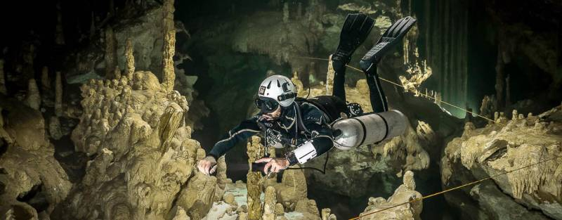 TDI Cavern Diver Course in Mexico