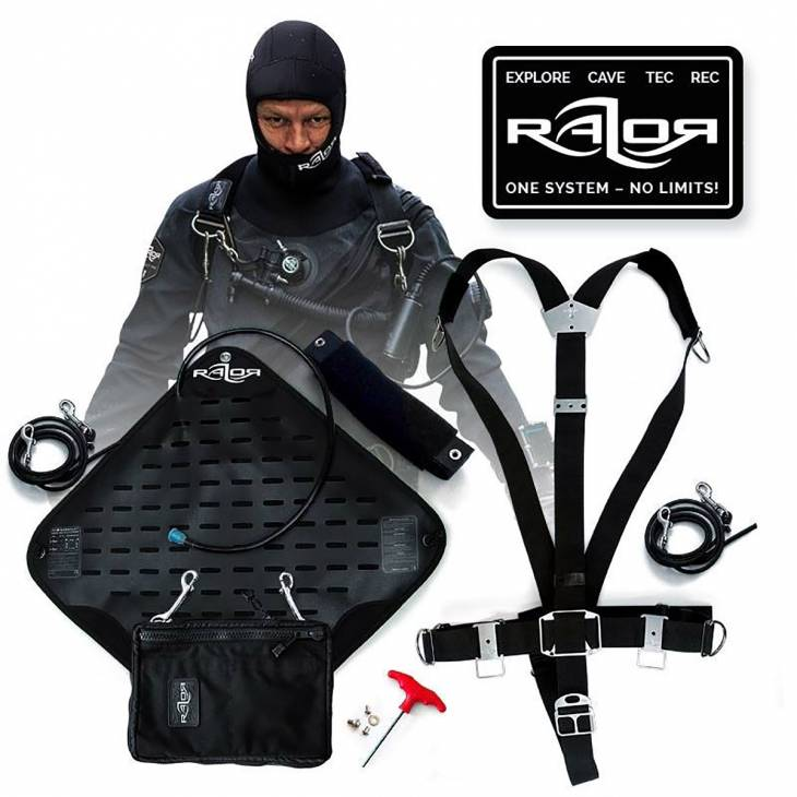 razor sidemount diving harness